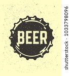 craft beer text emblem on... | Shutterstock .eps vector #1033798096
