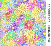 seamless floral background with ... | Shutterstock .eps vector #1033800772