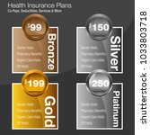 an image of a health insurance... | Shutterstock .eps vector #1033803718