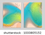 abstract cover template with... | Shutterstock .eps vector #1033805152