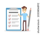 getting things done. man with... | Shutterstock .eps vector #1033806892