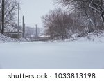 winter driving problems  snow... | Shutterstock . vector #1033813198