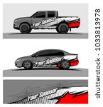 abstract racing graphic kit...   Shutterstock .eps vector #1033813978
