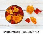 bowl of mixed healthy vegetable ... | Shutterstock . vector #1033824715