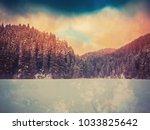 winter landscape in the forest | Shutterstock . vector #1033825642