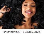 portrait of beautiful young... | Shutterstock . vector #1033826026