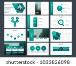 green triangle presentation... | Shutterstock .eps vector #1033826098