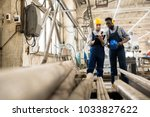 multi ethnic team of inspectors ... | Shutterstock . vector #1033827622
