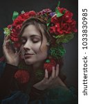 miracle female art portrait... | Shutterstock . vector #1033830985