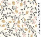 floral vector seamless pattern. ...   Shutterstock .eps vector #1033831852