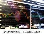 cryptocurrency trading screen ... | Shutterstock . vector #1033832335