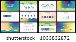 business presentation templates.... | Shutterstock .eps vector #1033832872