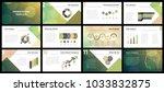 business presentation templates.... | Shutterstock .eps vector #1033832875