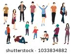 set of men  women and girls... | Shutterstock .eps vector #1033834882
