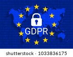 gdpr   general data protection... | Shutterstock .eps vector #1033836175