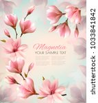 abstract spring background with ... | Shutterstock .eps vector #1033841842