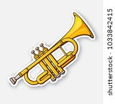 vector illustration. classical... | Shutterstock .eps vector #1033842415