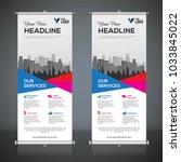 roll up banner design template  ... | Shutterstock .eps vector #1033845022