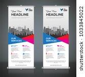 roll up banner design template  ... | Shutterstock .eps vector #1033845022