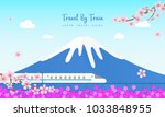 travel by train vector... | Shutterstock .eps vector #1033848955