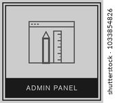 Small photo of Admin panel rules pen tools minimalist ideas vector icon white background