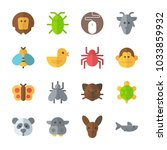 icon animals with turtle  goat  ... | Shutterstock .eps vector #1033859932