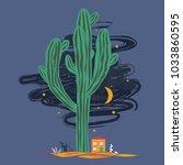 cute cartoon illustration with... | Shutterstock .eps vector #1033860595