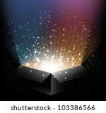 vector glowing magic box with... | Shutterstock .eps vector #103386566