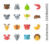 icon animals with mosquito ... | Shutterstock .eps vector #1033866052