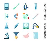 icon laboratory with laboratory ... | Shutterstock .eps vector #1033869022