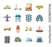 icon transportation with sail... | Shutterstock .eps vector #1033869106