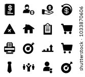 solid vector icon set   annual... | Shutterstock .eps vector #1033870606