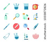 icon laboratory with... | Shutterstock .eps vector #1033872826