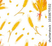 vector cartoon style seamless... | Shutterstock .eps vector #1033875532