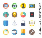 icon digital marketing with... | Shutterstock .eps vector #1033877662