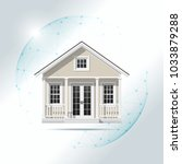 property insurance concept with ...   Shutterstock .eps vector #1033879288