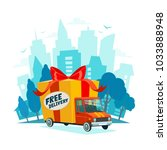 free delivery concept. delivery ... | Shutterstock .eps vector #1033888948