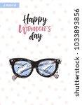 fashionable vintage glasses... | Shutterstock .eps vector #1033893856