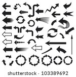 arrows icons set | Shutterstock .eps vector #103389692