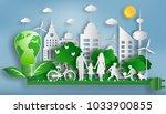 family enjoy fresh air in the... | Shutterstock .eps vector #1033900855