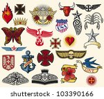 big tattoo collection  set of...   Shutterstock .eps vector #103390166