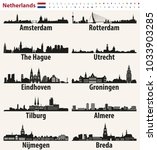 netherlands largest cities...   Shutterstock .eps vector #1033903285