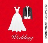 wedding card  wedding dresses ...   Shutterstock .eps vector #103391342
