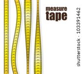 Measure tapes in different positions isolated on white background. vector illustration