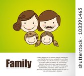 happy family consists of father ... | Shutterstock .eps vector #103391465