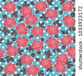 rose hand drawn floral vector... | Shutterstock .eps vector #1033923172