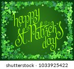 hand drawn dark green st.... | Shutterstock .eps vector #1033925422