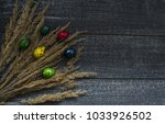 Small photo of background with many hued eggs