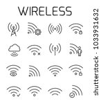wireless related vector icon... | Shutterstock .eps vector #1033931632