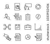 modern outline style business... | Shutterstock .eps vector #1033932436